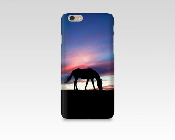 Horse Phone Case, iPhone 7 case, Samsung S7, iPhone 6, iPhone 5 case, Samsung S6, Equine Photography, iPhone 7 Plus, Sunset, Silhouette