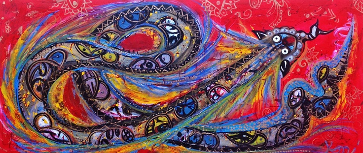 Serpiente emplumada©Art by Kami. No part of this image may be reproduced without the express written consent of the artist.