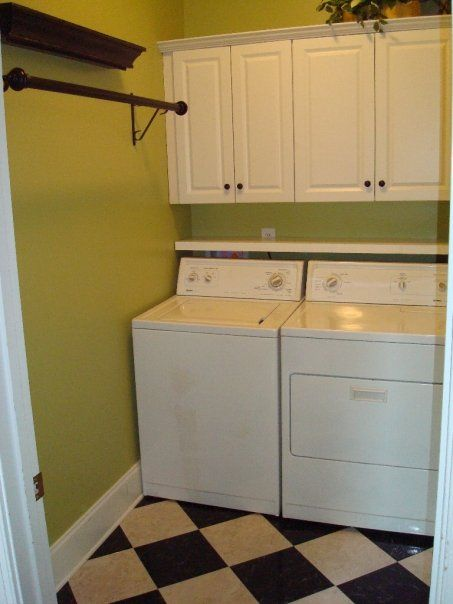My Sister S Green Laundry Room Home Love Pinterest And Shelves