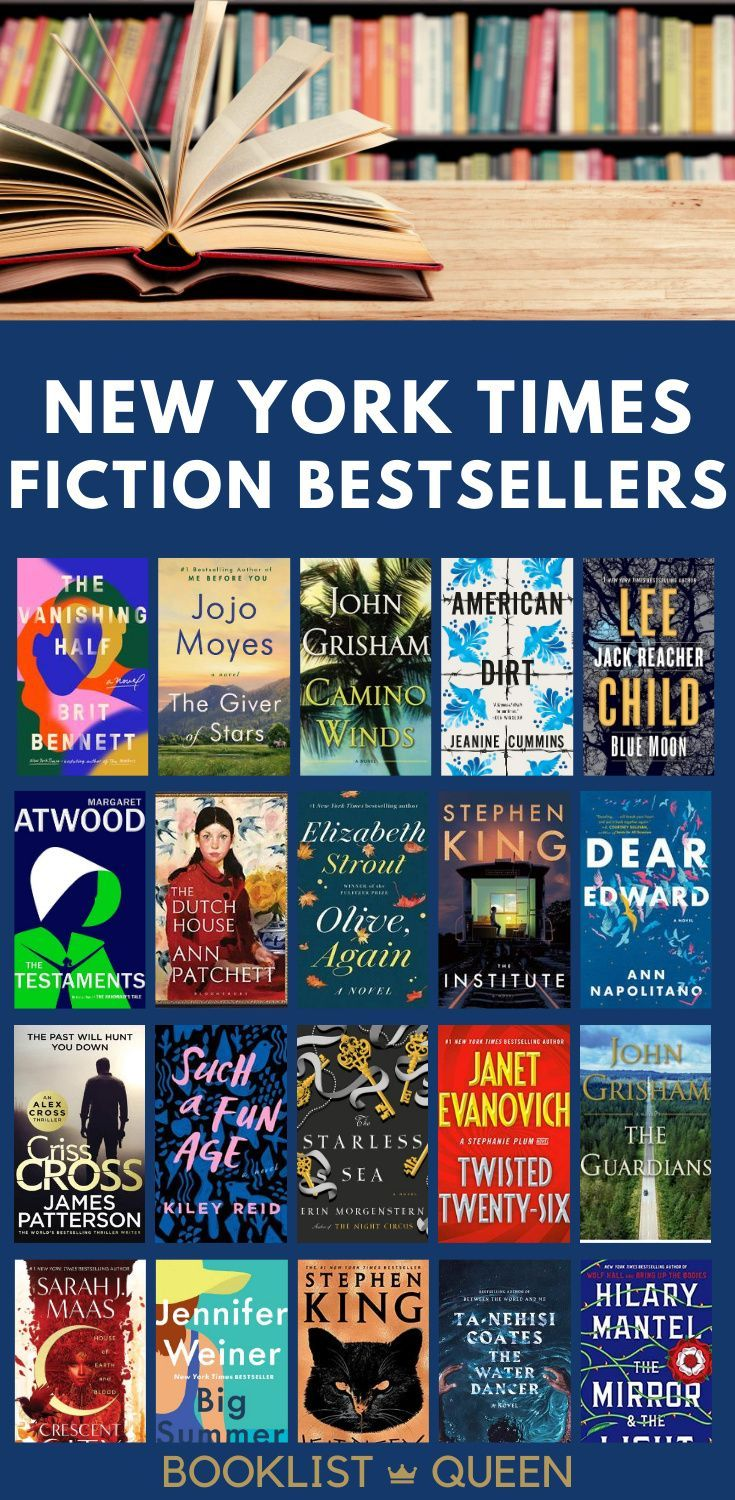 The Complete List of New York Times Fiction Best Sellers in 2020 ...