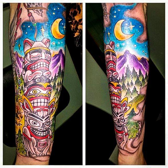totem pole tattoo 04