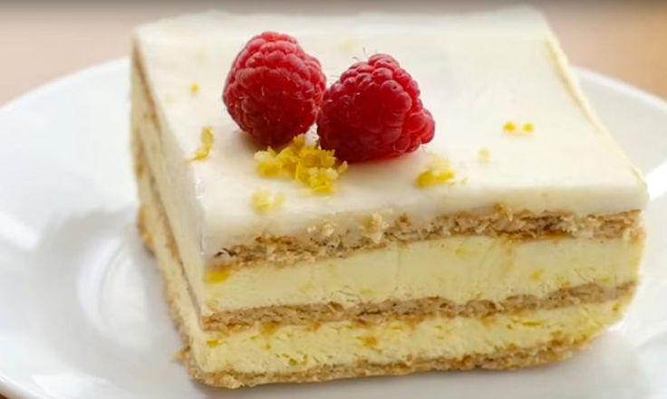 Attention : Une seule bouchée de ce gâteau au citron sans cuisson pourrait créer chez vous une dépendance!