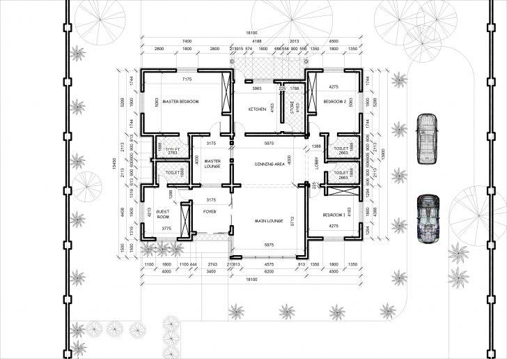 Astonishing Nigerian Design 2 Bedroom House Luxury Floor Plan Bedroom Home Floor Floor Pla Bungalow Floor Plans Bungalow House Floor Plans Bungalow House Plans