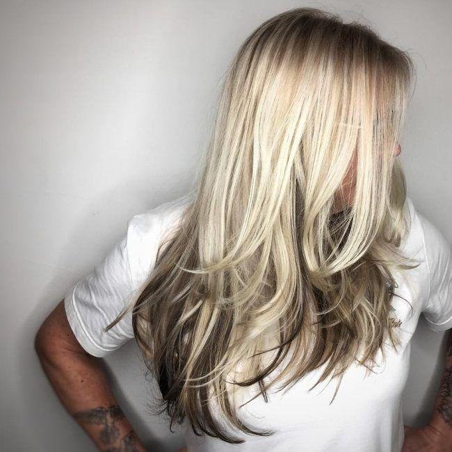 beautiful reverse ombre hair