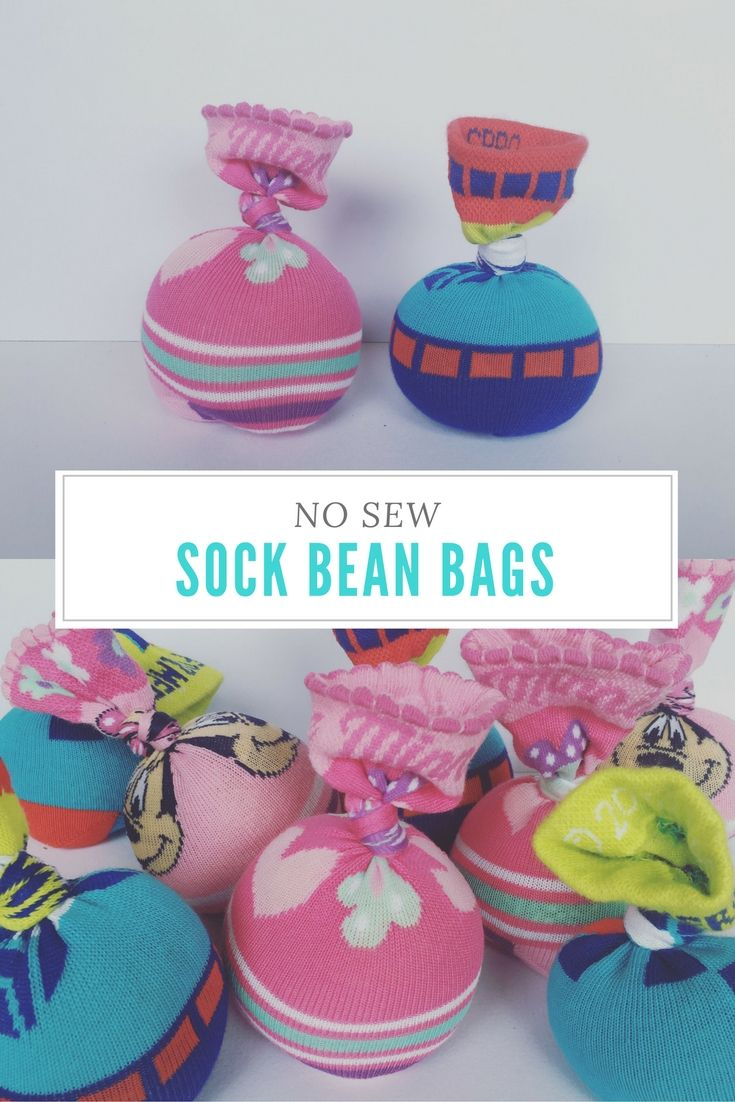 Here's something fun to do with all thosesinglesocks, or if kids have outgrown them: make sock bean bags. Sock bean bags are fun for all kinds of things. Toddler Fun Great for toddlers (supervision