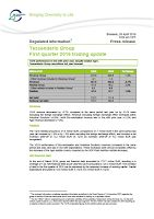 Front page of the Tessenderlo Q1 2016 report