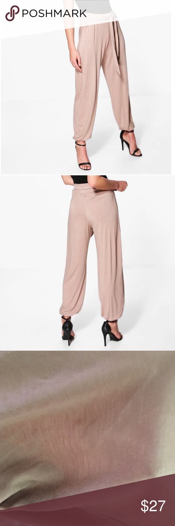 NWT Jersey Tie Waist Hareem Trouser Pant NWT! Jersey Hareem pant in a size 8! Color sand Pants Track Pants & Joggers