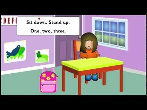 Classroom objects vocabulary in a school song (YouTube video). Learn English with teachkidsenglish.com