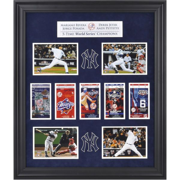 Derek Jeter, Mariano Rivera, Jorge Posada, and Andy Pettitte New York Yankees Fanatics Authentic World Series Framed Collectible with Five World Series Replica Tickets - $129.99