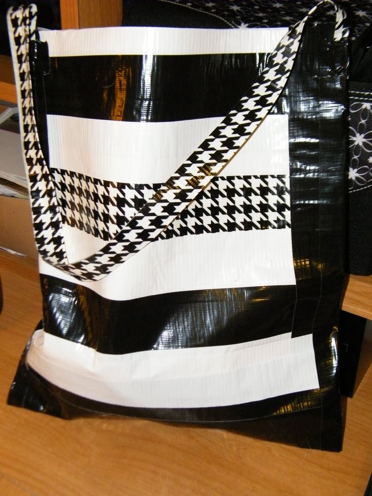 how to make a duct tape tote bag