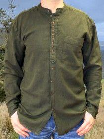 Traditional Grandfather Shirt SC580 Dark Army