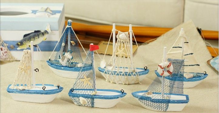 new arrival 6pcs/ lot Mediterranean sailboat home furnishings crafts/ office…