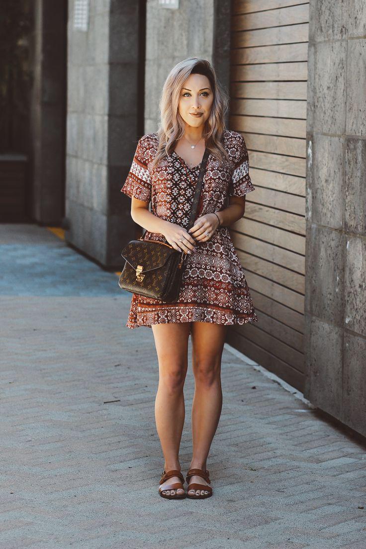 Blondie in the City | Flowy Spring & Summer Dress | Louis Vuitton Pochette Metis Bag
