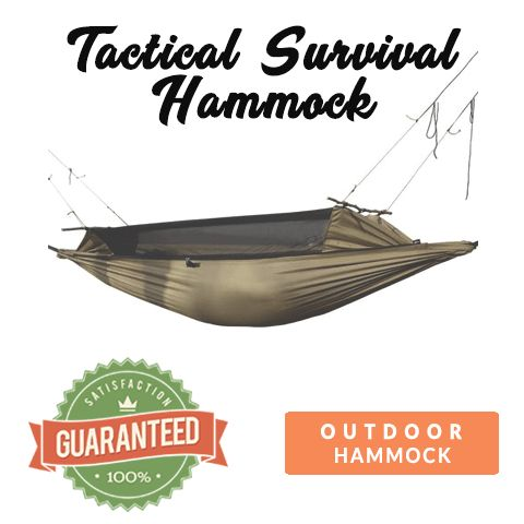 Tactical Survival Hammock – Water, Tear, and Bug Resistant. 100% Satisfaction Guaranteed!