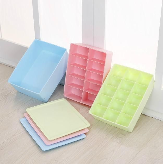 Plastic Storage Box Bra Underwear Socks Underwear Storage Box Storage Box  Finishing Three Piece Capless