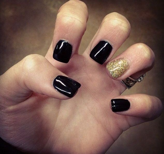 Awesome Cute Black And Gold Nail Designs Cool Nail Design Ideas
