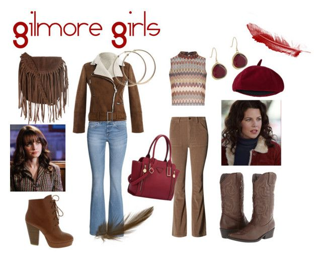 Gilmore Girls by timetravelingfashionistas on Polyvore featuring polyvore, fashion, style, Glamorous, H&M, Madden Girl, Karen Kane and clothing