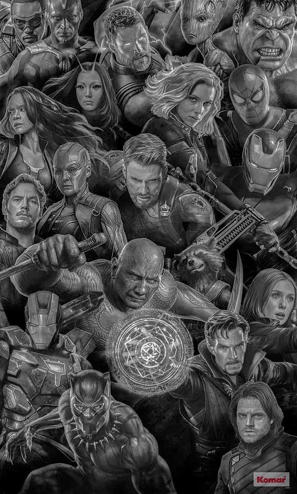 Poster Mural Xxloptez Pour Notre Poster Xxl Noir Et Blanc A L Image Des Heros Du Film Avengers Pour Decorer Votre Salon Heros Marvel Fond D Ecran Pop Art Heros