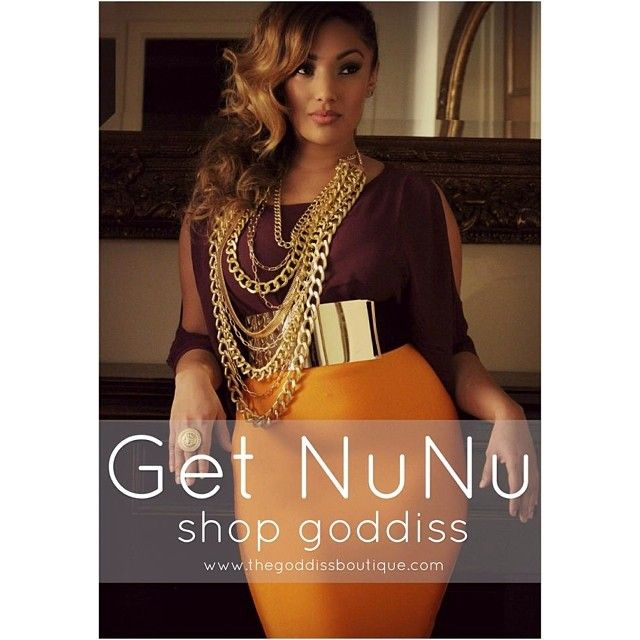 Goddiss boutique: Thick Gold Metal Belt and Gold Chains