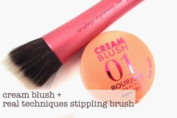 Cream Blush + Real Techniques Stippling Brush   BRUSH BREAKDOWN   Face Essentials • Girl Loves Gloss