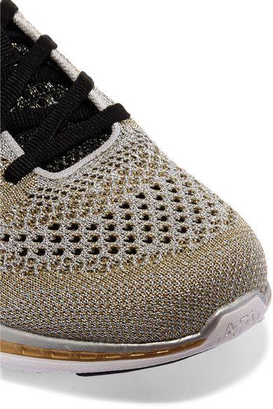 Athletic Propulsion Labs - Techloom Pro Metallic Mesh Sneakers - Gold - US10.5