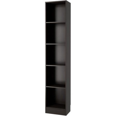 element tall narrow 5shelf bookcase 75 x x inches