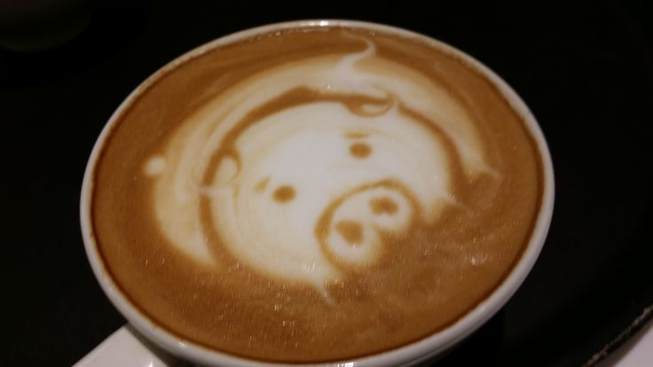 cute pig in your coffee