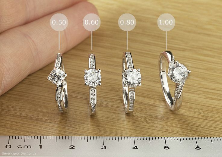 Engagement rings diamond sizes pared We have photographed 4 beautiful e