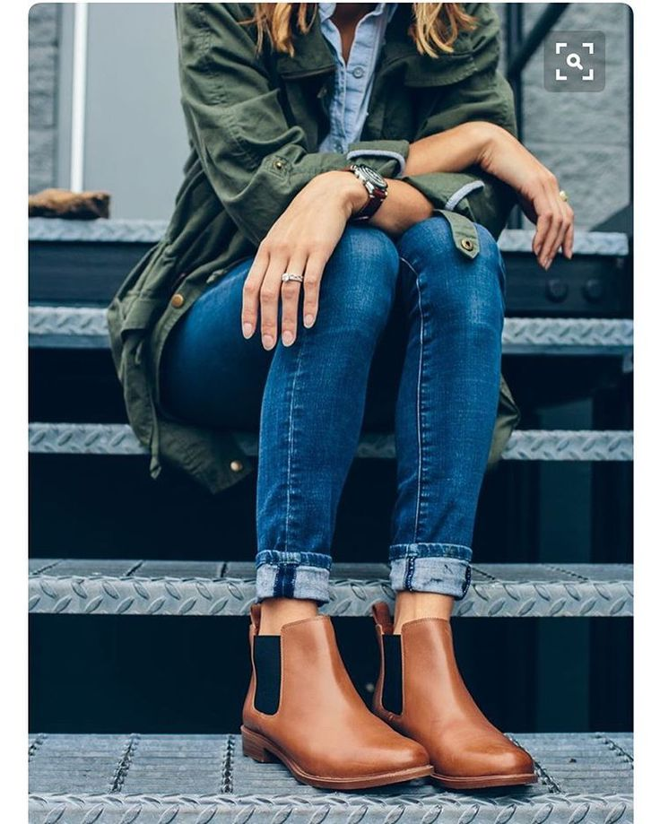 Denim and Chelsea boots