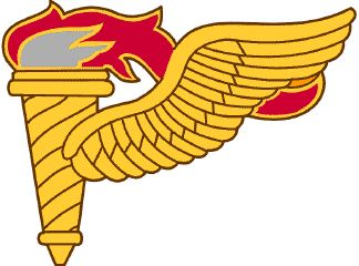 United States Army Badges - PATHFINDER BADGE    SYMBOLISM: The wing suggests flight and airborne capabilities; the torch symbolizes leadership and guidance implying pathfinder combat skills.