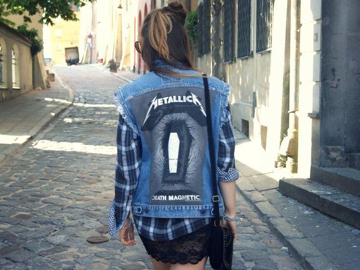 METALLICA & LEVIS jeans VEST from D-S-M by DaWanda.com