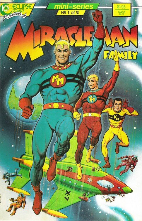 Miracleman Family 32, June 1988, cover by Garry Leach