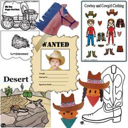 Wild west and cowboy preschool and kindergarten crafts, activities, and lessons