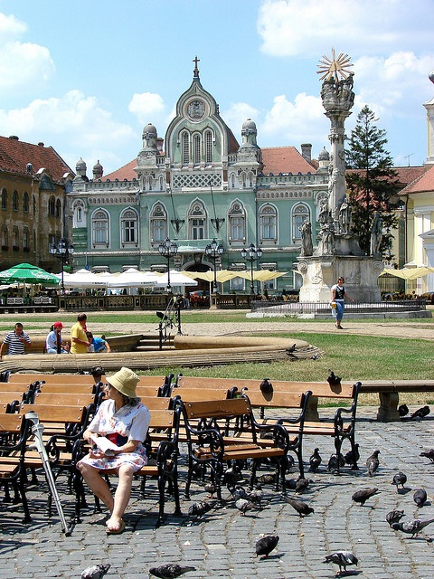 Union Square Timisoara, the first mainland European city to be lit by electric street lamps in 1884, Romania www.romaniasfriends.com