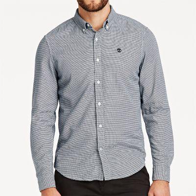 Timberland Men's Tioga River Slim Fit Shirt Navy/White