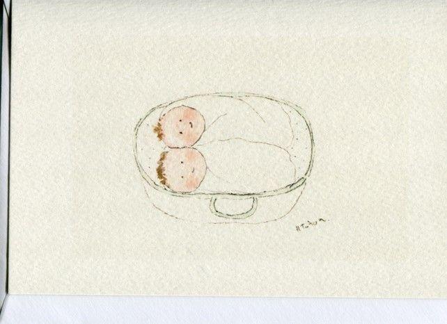 Tiny twins- card £2.50