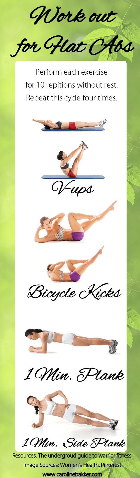 Work out for flat abs