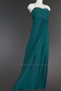 Aqua strapless sweetheart model met asymmetrische top 3141