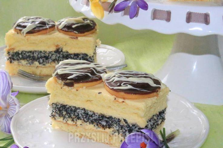 Ciasto z delicjami i masą serowo-maślana