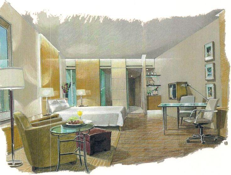 Interior Conceptual Sketch. #interiordesign #sketch #bedroom