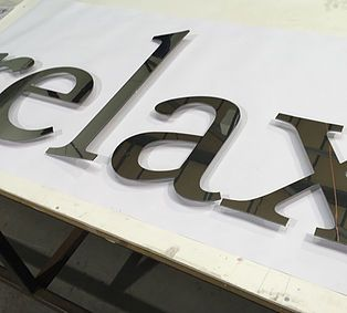 Flat Cut Polished Stainless Letters