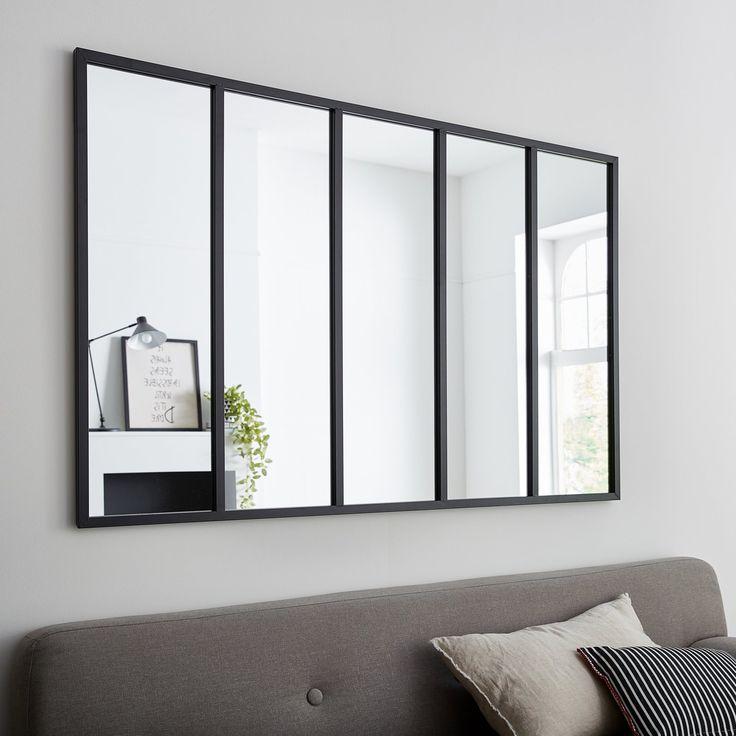 Un miroir type atelier noir, pour un style loft