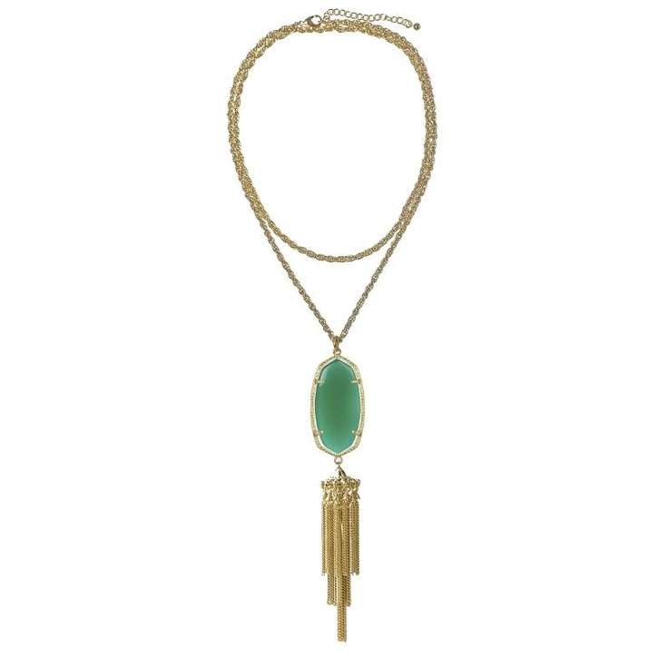 Kendra Scott Green Onyx Necklace at aquaruby.com