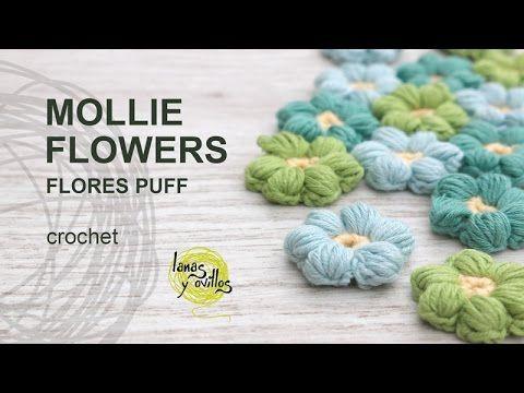 Tutorial Mollie Flowers o Flores Puff Crochet o Ganchillo Español | Tejido al crochet - Al Crochet
