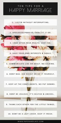 i agree with all of these!!! 10 Tips for a Happy Marriage