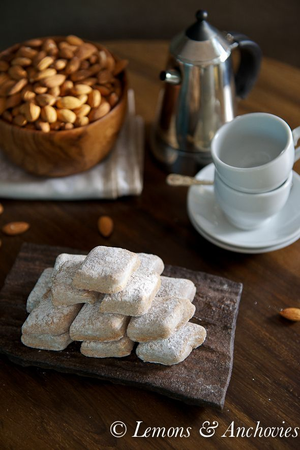 Ricciarelli: Almond Paste Cookies @Jean Pope | Lemons & Anchovies