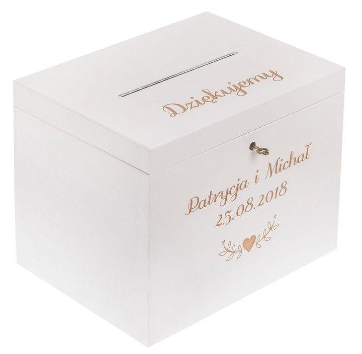Pudelko Skrzynka Na Koperty Wesele Zyczenia Slub Decorative Boxes Wedding Box
