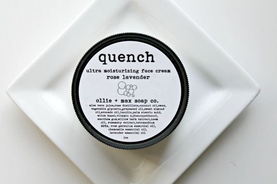 QUENCH Natural Face Moisturizer Lavender Face by ollieandmaxsoapco, $22.00