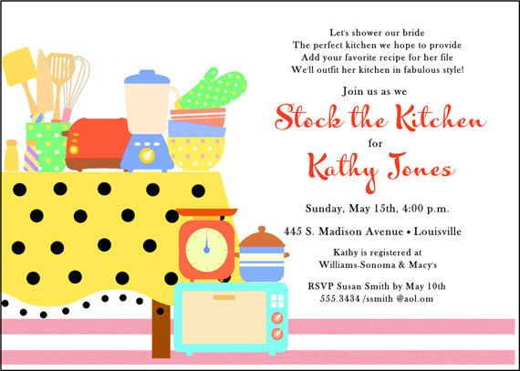 kitchen bridal showers  bridal shower invitations and