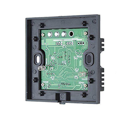 Interrupteur Commutateur de Lampe Tactile Mural – Noir Verre Design – Boutons & Télécommande à Distance Lumière Lampe – Ampoule Classique…